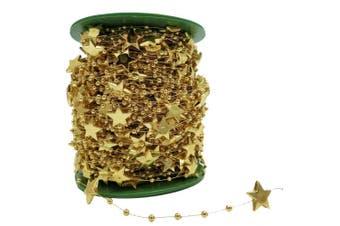 (Gold) - BoJia 60m 15mm Star shape Crystal Beads for DIY Christmas tree accessories Electroplating Wedding Garland,DIY Clothing DIY Bracelet (Gold)