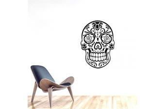 "(DIY, 22.83"" * 32.28"") - BIBITIME Halloween Skull Wall Art Decor Decals Skeleton Stickers for Rooms Removable Vinyl Art Graphic Bedroom Decal Sticker Wallpaper (DIY, 60cm 80cm )"