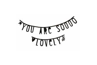 A Little Lovely Company – Letters Garland Banner, Black