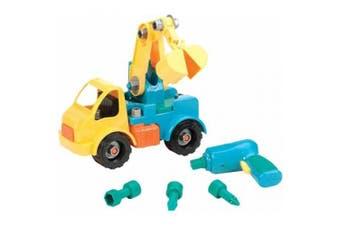 (Crane) - Battat Take-A-Part Toy Vehicles Crane Green
