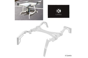 (for DJI Phantom 4 Pro / Pro Plus / Advanced) - Landing Gear Extenders / Stabilisers and Gimbal Guard Protection Plate for DJI Phantom 4 Pro / Pro Plus / Advanced - Extra Stability, Eliminates Rocking, Smoother Landings - Prevents Camera Damage