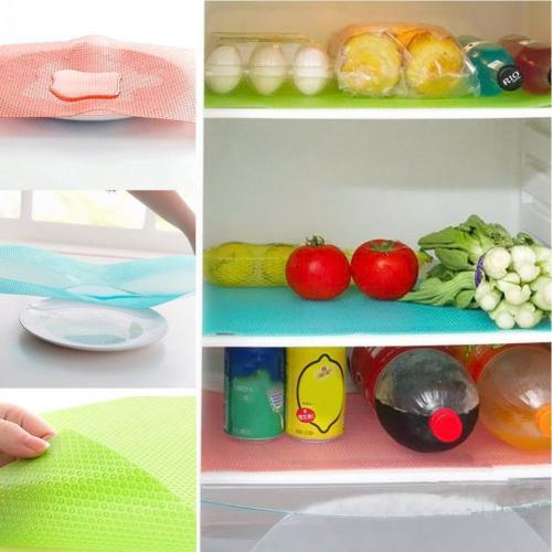 Refrigerator Liners Washable Refrigerator Mats Kitchen Silicone Refrigerator Pads Place Mats 5PCS/Set Refrigerator Mats Kitchen Silicone Refrigerator Pads Place Mats   Material: EVA  Size:45×30×0.1cm  Heat Resistant : 80℃ -30℃  Weight: 50g/PCS  Package Includes: 5PCS