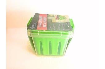 (Green) - Reusable Fruit & Veggie Storage Container (Green)