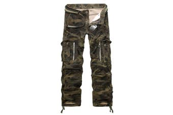 (star camouflage, 38 Waist x 33 Leg) - AYG Mens Cargo Trousers Camouflage Combat Pants Cotton 29-40