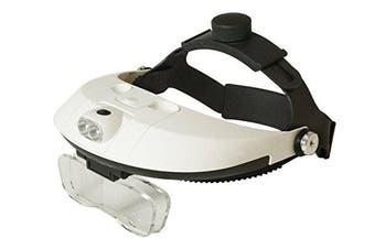 101Color Head Mount Magnifier Glasses with Detachable Ultra Bright LED Head Lamp - 5 Interchangeable Lenses: 1.0X, 1.5X, 2.0X, 2.5X, 3.5X Magnification