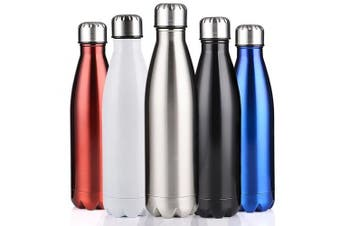 (Black, 1000ml) - BELLOO 500ml/1000ml Drinks Bottle Sports Insulated Stainless Steel Water Bottle to Keep Hot and Cold 12-24 Hours