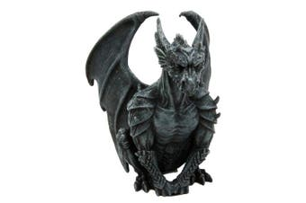 Atlantic Collectibles Armoured Winged Dragon Guardian Gargoyle Decorative Figurine 16cm Tall