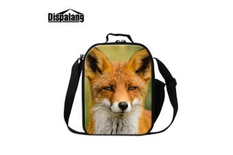 (Fox6) - Dispalang Fox Print Lunch Bags for Children Girls Insulated Lunch Box Bags Small Kids Animal Lunch Container
