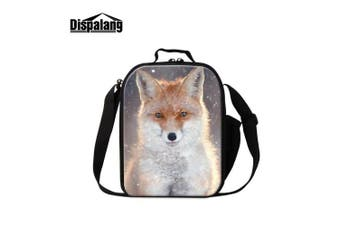 (Fox1) - Dispalang Fox Print Lunch Bags for Children Girls Insulated Lunch Box Bags Small Kids Animal Lunch Container