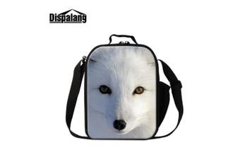 (Fox3) - Dispalang Fox Print Lunch Bags for Children Girls Insulated Lunch Box Bags Small Kids Animal Lunch Container