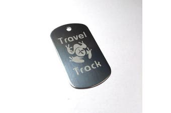 (Silver) - AllCachedUp Trackable Tag for Geocaching - Travel Track Tag - trackable like a Travel Bug