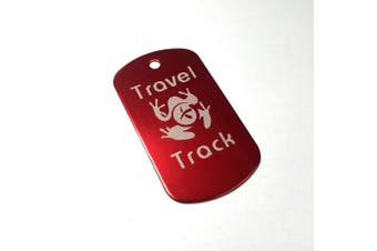 (Red) - AllCachedUp Trackable Tag for Geocaching - Travel Track Tag - trackable like a Travel Bug