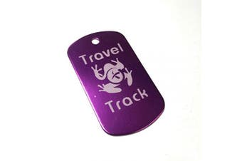 (Purple) - AllCachedUp Trackable Tag for Geocaching - Travel Track Tag - trackable like a Travel Bug