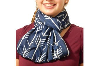 (Navy w/Wh Arrow) - Nursing Scarf and Breastfeeding Cover Up Hides Back Breast Pump Privacy