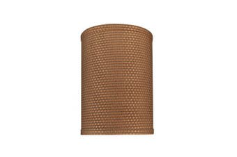 Aspen Creative 31115 Transitional Hardback Drum (Cylinder) Shaped Spider Construction Lamp Shade in Brown, 20cm Wide (20cm x 20cm x 28cm ) 20cm (20cm x 20cm x)
