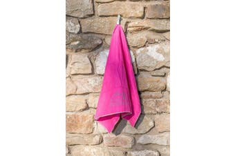 (80x130 Large) - Zelador Microfiber Trek Towel Blush Pink with Carry Case, Antibacterial, Absorbs 6x It's own weight ideal for camping, trekking, gym, running, very lightweight