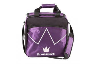 (Purple) - Brunswick Blitz Single Tote Bowling Bag - Many Colours Available