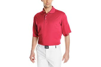 (Large, Dark Red) - Antigua Men's Pique Xtra-Lite Desert Dry Polo Shirt