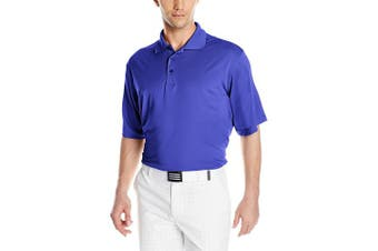 (Medium, Dark Royal) - Antigua Men's Pique Xtra-Lite Desert Dry Polo Shirt