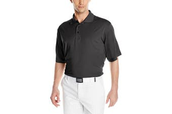 (Large, Black) - Antigua Men's Pique Xtra-Lite Desert Dry Polo Shirt