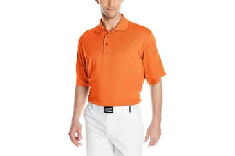 (X-Large, Mango) - Antigua Men's Pique Xtra-Lite Desert Dry Polo Shirt