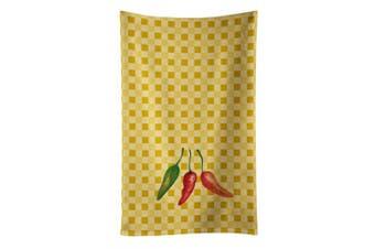 Caroline's Treasures BB7191KTWL Cayenne Pepper on Basketweave Kitchen Towel , 38cm X 70cm , multicolor