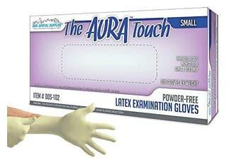 Aura DDS-102 Touch Small PF Latex Exam Glove