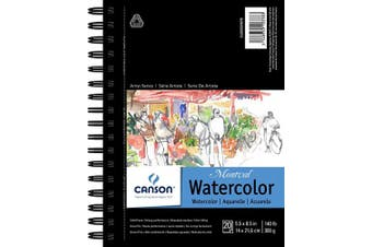 """(5.5"""" x 8.5"""" Side Wire) - Canson Artist Series Watercolour Pad, 14cm x 22cm Side Wire"""