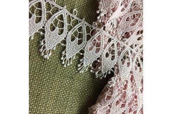 Trim Lace Pink 6.4cm Wide, 2 Yards, Holy Light Window Design Venise, Multi-Use Garments DIY Sewing Slip Extender Decoration Arts Crafts Costume Veil, Pink