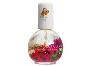 (Mandarin Oranges) - Blossom Scented Cuticle Oil (10ml) infused with REAL flowers - made in USA (Mandarin Oranges)