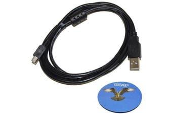 HQRP Long 1.8m USB to Mini USB Cable for Sony Handycam DCR-SR42 DCR-SR42A DCR-SR45 DCR-SR46 Camcorder plus HQRP Coaster