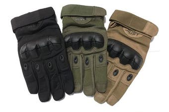(Full Finger Green, X-Large) - WTACTFUL Touch Screen Motorbike Full Finger and Half Finger Gloves for Motorcycle Cycling Climbing Hiking Hunting Outdoor Sports Gear Gloves