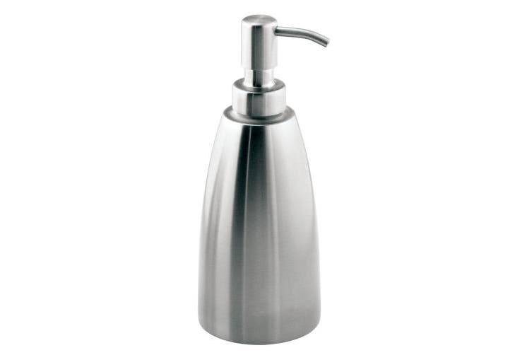 (Oval) - InterDesign Forma Stainless Steel Liquid Soap & Lotion Dispenser Pump for Kitchen or Bathroom Countertops, Brushed
