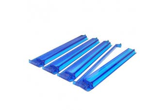 American Mahjong All-In-One Tile Rack & Pusher Arm - Set of 4 - Sapphire Blue