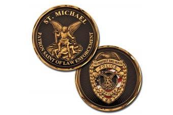 St Michael Police Officer Patron Saint of Law Enforcement Challenge Coin