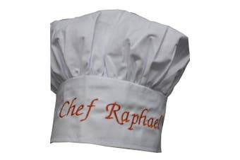 Personalised Chef Hat Custom Name - Size - Colour - Font - Thread - Beautiful Makes a Great GIFT KIDS CHILD ADULT