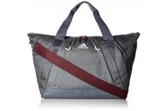 (One Size, Jersey Onix/Onix/Maroon) - Adidas Studio Duffel Bag