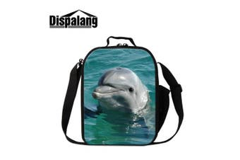 (Animal5) - Dispalang Dolphin Lunch Bags for Children Cute Animal Shark Print Small Insulated Cooler Bags for Girls Kids Lunch Box Bags