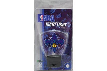 (New Orleans Hornets) - Authentic Street Signs NBA Officially Licenced-LED NIGHT LIGHT-Super Energy Efficient-Prime Power Saving 0.5 watt-Plug In-Great Sports Fan gift for Adults-Babies-Kids Room