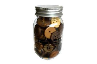 (Warm Cocoa) - Buttons Galore Button Mason Jars