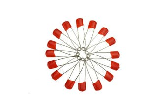 (Red) - Bilipala Plastic Head Baby Nappy Safety Pins Brooches for Handcrafts, 5.3cm , 50 Count (Red)