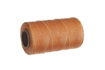 (brown) - Wax Thread Leather Hand Stitching Leather Sewing Waxed Thread Leather Sewing Cord for leather craft 284yrdm 150D (1mm) (brown)