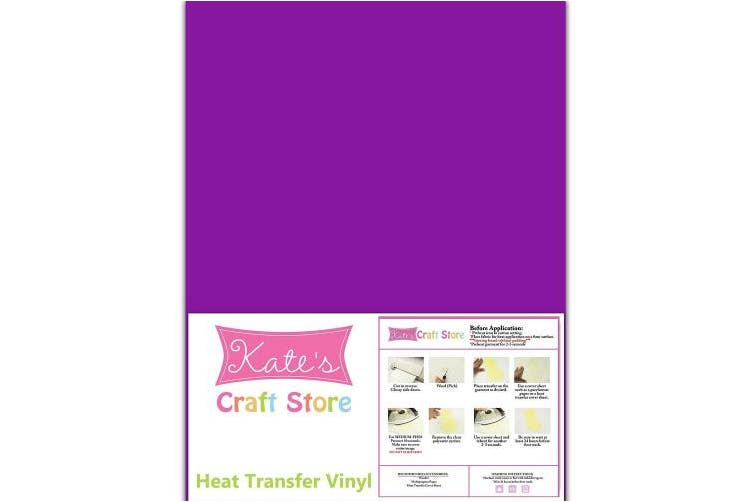 (Purple Berry) - 3 sheets of 30cm x 38cm Siser Easyweed Stretch Heat Transfer Vinyl Iron-On (Purple Berry)