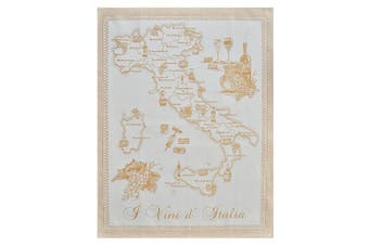 (Blue) - Abbiamo Tutto Wines of Italy Collection Kitchen Towel, Yellow