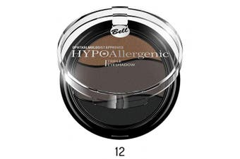 (12 - E25) - Bell HYPOAllergenic Triple Eyeshadow Look Deep Intense Three Colour (12 - E25)