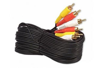 (25 Feet) - iMBAPrice 7.6m Rca M/Mx3 Audio/Video Cable Gold Plated - Audio Video