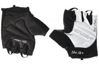 (Large, White) - Chiba Women's Gel Training Glove