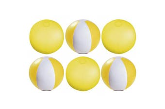 (Transparent Yellow) - eBuyGB Pack of 12 Inflatable Colour Ball - Beach Pool Game, Transparent Yellow, 22cm/9""