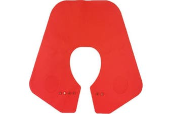 (Red) - Da Jia Inc Silicone Cutting Collar Neck Shield Magnetic Waterproof Colouring Cape Professional Barber Hair Shawl - Red