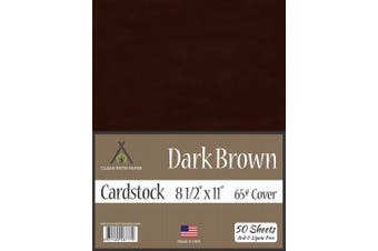 (22cm  x 28cm  - 50 Sheets) - Dark Brown Cardstock - 22cm x 28cm - 29kg Cover - 50 Sheets